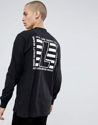 Lee high neck t-shirt black