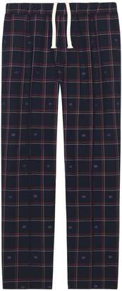 Gucci GG check wool jogging pant
