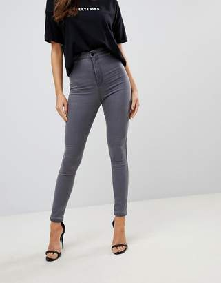 Asos DESIGN Rivington high waisted jeggings in new gray wash