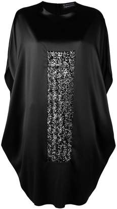 Gianluca Capannolo oversized sequin panel dress