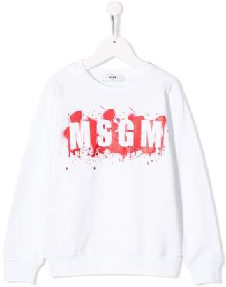 MSGM Kids logo print sweatshirt