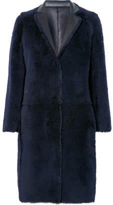 Karl Donoghue Reversible Shearling Coat - Navy