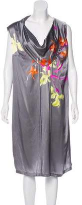 Dries Van Noten Silk Abstract Print Midi dress w/ Tags