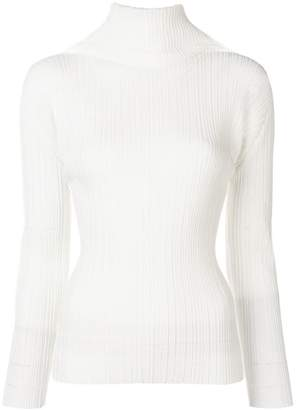 Pleats Please Issey Miyake chimney blouse