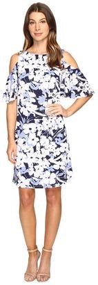 Christin Michaels - Danish Floral Cold Shoulder Dress Women's Dress $69 thestylecure.com