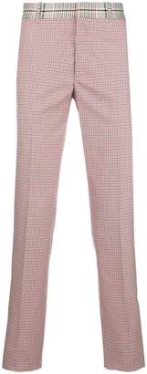 Alexander McQueen check print trousers