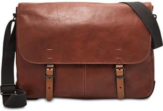 a76a43f43f6 Fossil Men Buckner Leather Messenger Bag