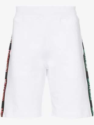 Moschino Ticker tape logo cotton shorts