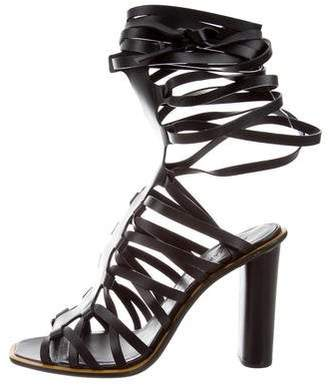 Aquazzura Leather Lace-Up Sandals