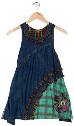 Oilily Girls' Denim Sleeveless Dress