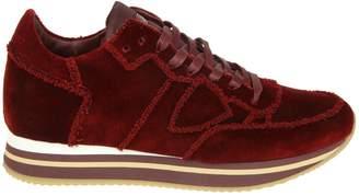 Philippe Model Sneakers tropez Higher In Velvet Color Bordeaux