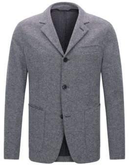 BOSS Hugo Italian Cotton Jersey Sport Coat, Slim Fit T-Nedd 46R Dark Blue
