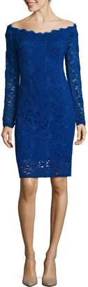 BLU SAGE Blu Sage Long Sleeve Sheath Dress