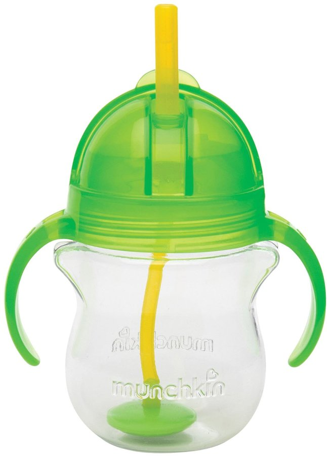 Munchkin Click Lock Weighted Flexi Straw Trainer Cup - Green - 7 oz
