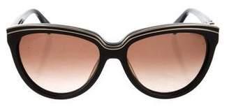 Diane von Furstenberg Logo Wayfarer Sunglasses