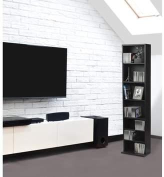 "Atlantic 54"" Herrin Media Storage Cabinet Shelf, Espresso (114 DVDs, 261 CDs)"