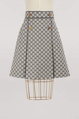 Gucci GG canvas A-line skirt