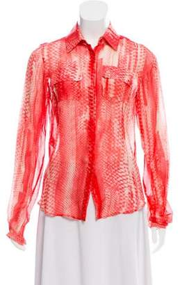 Reed Krakoff Silk Button-Up Top w/ Tags