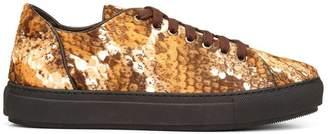 Donald J Pliner COSIMA, Snake Haircalf Sneaker