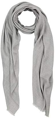 Barneys New York MEN'S SELF-FRINGED TWILL SCARF - GRAY