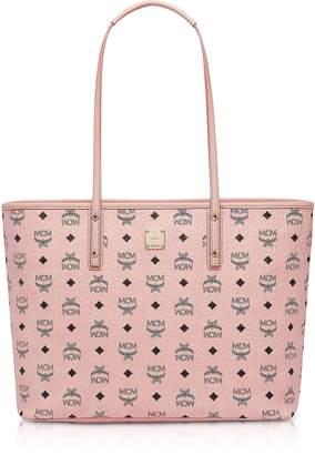 MCM Anya Soft Pink Top Zip Medium Shopping Bag