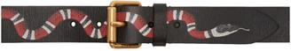 Gucci Black Leather Snake Belt $420 thestylecure.com
