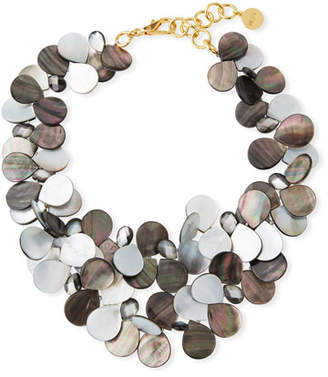 Mother of Pearl NEST Jewelry Mother-of-Pearl Cluster Bib Statement Necklace