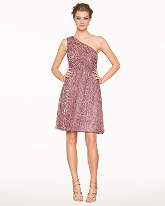 Le Château Animal Print Tulle Fit & Flare Dress