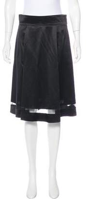 Marc Jacobs Satin A-Line Skirt