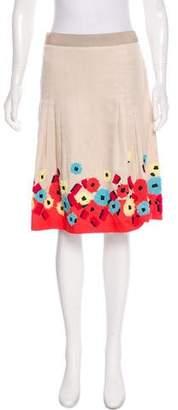 Rena Lange Embellished A-Line Skirt