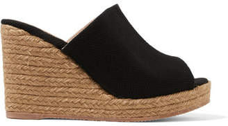 Castaner Bubu 80 Canvas Espadrille Wedge Sandals - Black