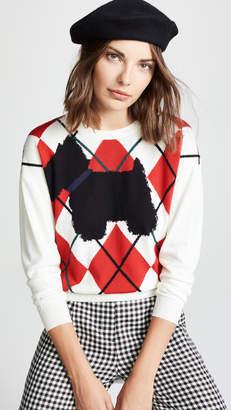 Moschino Dog Argyle Sweater