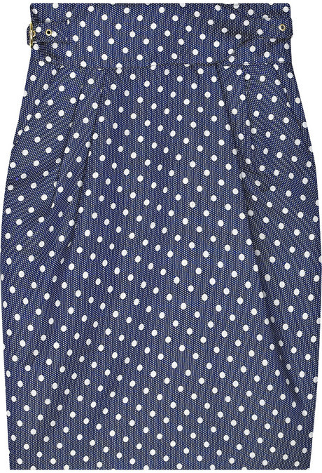 ALICE by Temperley Polka-dot buckle skirt