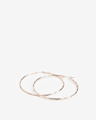 Express Textured Metal Hoop Earrings