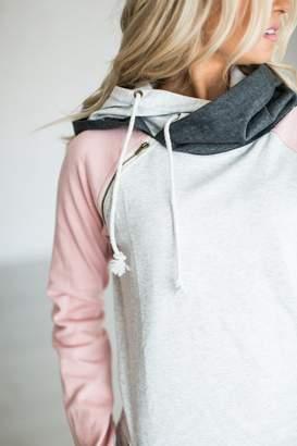 Ampersand Avenue Baseball DoubleHood Sweatshirt - Pink