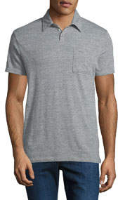 Heathered Polo Tee