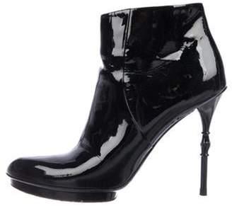 Gucci Vitello Vernice Ankle Boots Black Vitello Vernice Ankle Boots