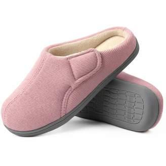 a8d33f642aa0 ULTRAIDEAS Women s Comfort Velvet Memory Foam Slippers Short Plush Clog  Indoor   Outdoor Diabetic Shoes w