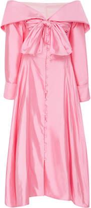 Rosie Assoulin Booby Trap Off-The-Shoulder Silk-Taffeta Dress