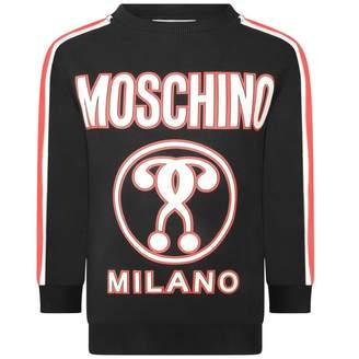 Moschino MoschinoBoys Black Milano Print Sweater