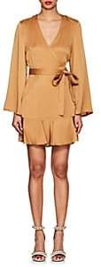 A.L.C. Women's Whitney Washed Satin Wrap Dress-Camel