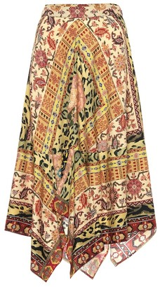 Etro Paisley wool and silk skirt