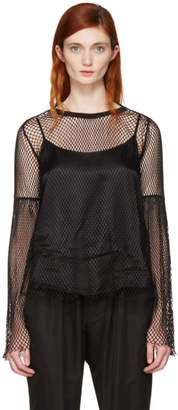 MM6 MAISON MARGIELA Black Mesh Blouse