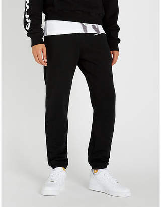 Off-White Logo-print cotton-jersey jogging bottoms