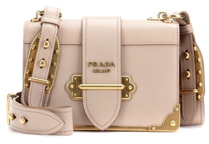 prada Prada Cahier Leather Shoulder Bag