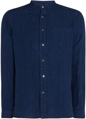 Polo Ralph Lauren Men's Custom Fit Linen Striped Shirt