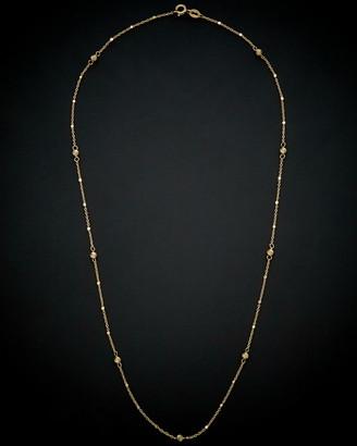 14K Italian Gold Bead Station Necklace