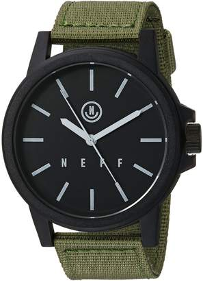 Neff Unisex-Adults Carbine Analog Watch with Woven Band Mens