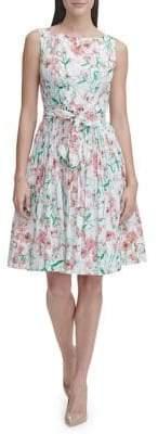 Tommy Hilfiger Kenwood Floral Cotton Fit Flare Dress