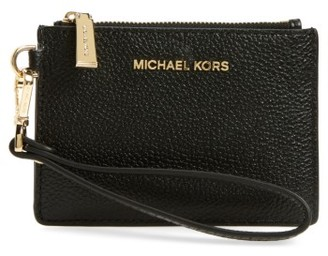 Women's Michael Michael Kors Small Mercer Leather Rfid Coin Purse - Black $58 thestylecure.com